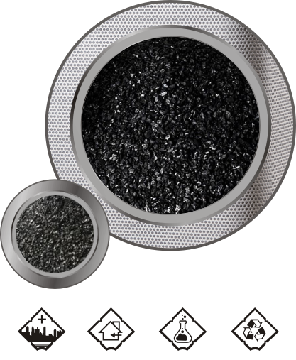 Impregnated coconut shell activated carbon