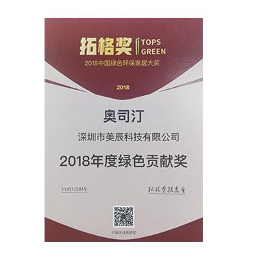 2018年綠色貢獻獎